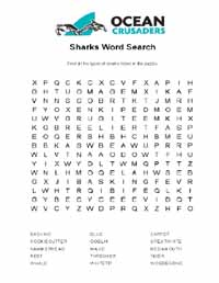 Shark wordsearch