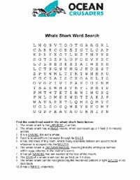 Whale wordsearch 3
